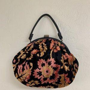 Vintage 60s Mr. Mart floral velveteen tapestry bag